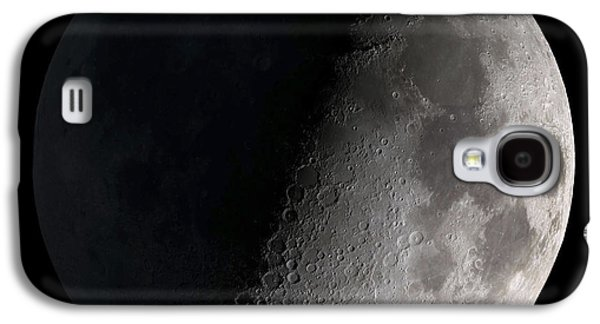 Background Photographs Galaxy S4 Cases - First Quarter Moon Galaxy S4 Case by Stocktrek Images