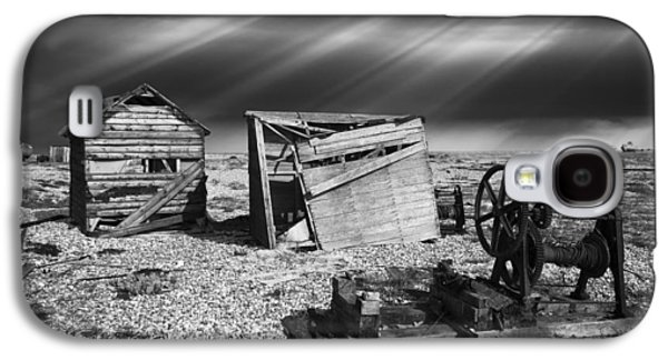 Machinery Galaxy S4 Cases - Fishing Boat Graveyard 4 Galaxy S4 Case by Meirion Matthias
