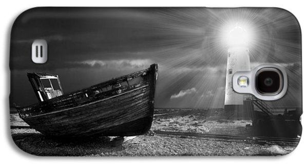 Pebbles Galaxy S4 Cases - Fishing Boat Graveyard 7 Galaxy S4 Case by Meirion Matthias