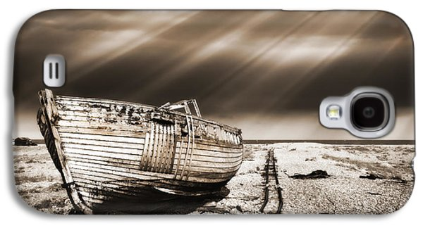 Warm Tones Galaxy S4 Cases - Fishing Boat Graveyard 9 Galaxy S4 Case by Meirion Matthias