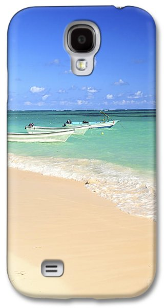 Transportation Photographs Galaxy S4 Cases - Fishing boats in Caribbean sea Galaxy S4 Case by Elena Elisseeva