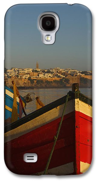 Rabat Photographs Galaxy S4 Cases - Fishing Boats In Front Of Kasbah Des Galaxy S4 Case by Axiom Photographic