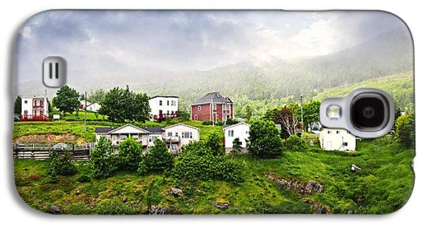 Foggy Ocean Galaxy S4 Cases - Fishing village in Newfoundland Galaxy S4 Case by Elena Elisseeva
