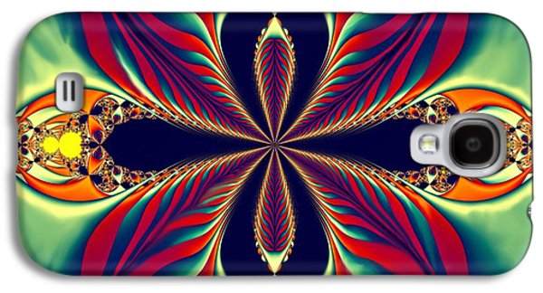 Digital Art Greeting Cards Galaxy S4 Cases - Flame Blossom Galaxy S4 Case by Sandra Bauser Digital Art
