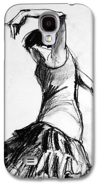 Joyful Drawings Galaxy S4 Cases - Flamenco Sketch 2 Galaxy S4 Case by Mona Edulesco