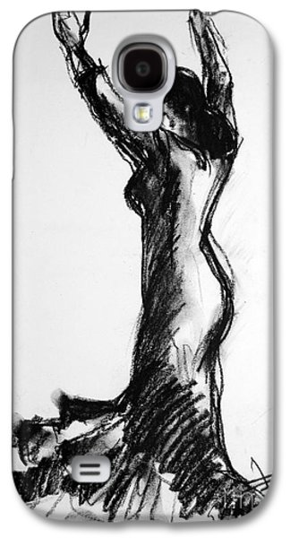Abstract Movement Galaxy S4 Cases - Flamenco Sketch 3 Galaxy S4 Case by Mona Edulesco