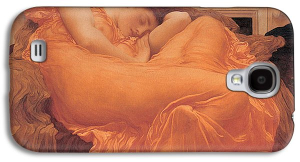 Flame Galaxy S4 Cases - Flaming June - 1895 Galaxy S4 Case by Lord Frederic Leighton