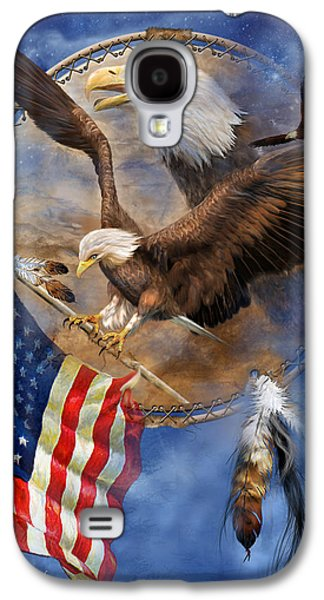 Eagle Mixed Media Galaxy S4 Cases - Flight For Freedom Galaxy S4 Case by Carol Cavalaris