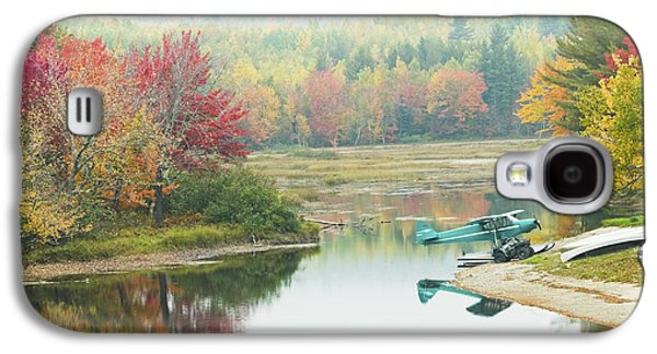 Maine Roads Galaxy S4 Cases - Float plane On Pond Near Golden Road Maine Photo Poster Print Galaxy S4 Case by Keith Webber Jr