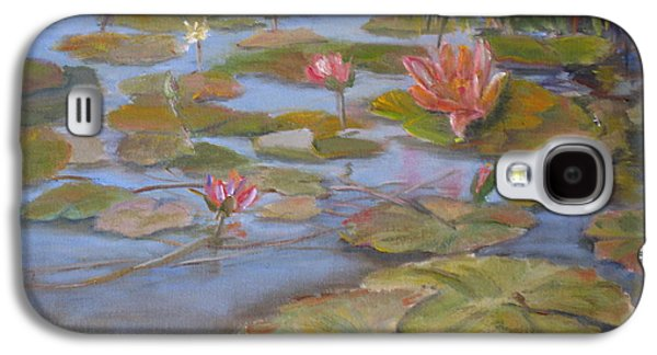 Lilly Pad Galaxy S4 Cases - Floating Lillies Galaxy S4 Case by Mohamed Hirji