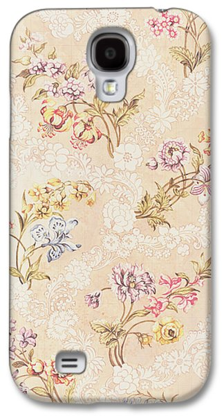 Flowers Tapestries - Textiles Galaxy S4 Cases - Floral design with peonies lilies and roses Galaxy S4 Case by Anna Maria Garthwaite