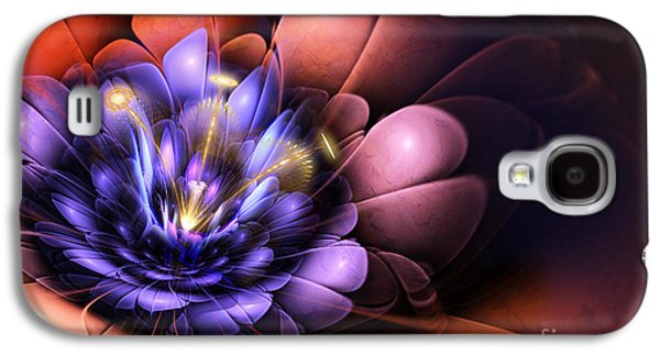 Floral Flame Galaxy S4 Case by John Edwards