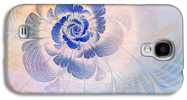 Abstract Digital Galaxy S4 Cases - Floral Impression Galaxy S4 Case by John Edwards