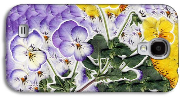 Floral Digital Art Galaxy S4 Cases - Flower Collage Galaxy S4 Case by Dustin K Ryan