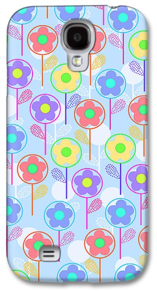 Bold Style Galaxy S4 Cases - Flowers Galaxy S4 Case by Louisa Knight