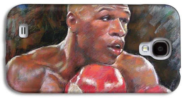 Boxer Pastels Galaxy S4 Cases - Floyd Mayweather Jr Galaxy S4 Case by Ylli Haruni