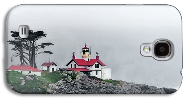 Coast Highway One Galaxy S4 Cases - Fog comes rolling in - Battery Point Lighthouse - Crescent City CA Galaxy S4 Case by Christine Till