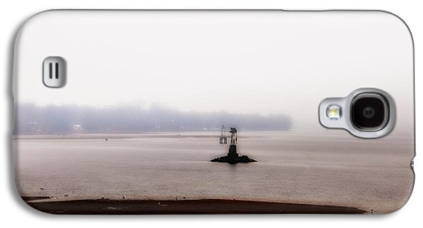 Bouys Galaxy S4 Cases - Foggy Delaware River Galaxy S4 Case by Bill Cannon