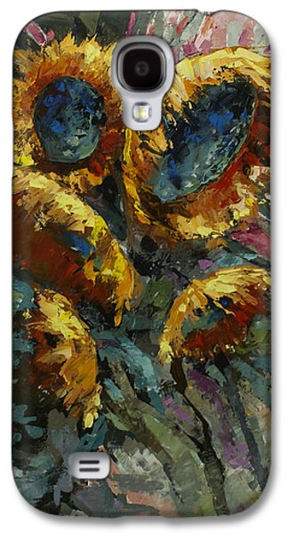 Pallet Knife Galaxy S4 Cases - Follow the Sun 2 Galaxy S4 Case by Michael Lang
