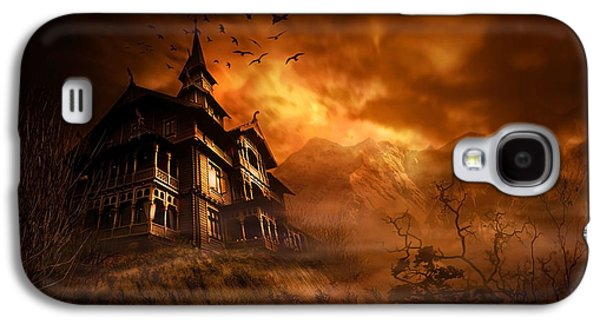 Eerie Galaxy S4 Cases - Forbidden Mansion Galaxy S4 Case by Svetlana Sewell