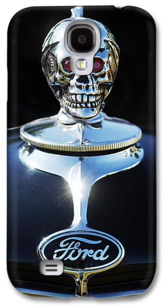 Car Abstract Photographs Galaxy S4 Cases - Ford Skull Hood Ornament Galaxy S4 Case by Jill Reger