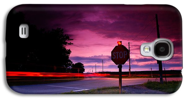 Stop Sign Galaxy S4 Cases - Fork in the Road Galaxy S4 Case by Cale Best