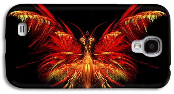 Flame Galaxy S4 Cases - Fractal Butterfly Galaxy S4 Case by John Edwards