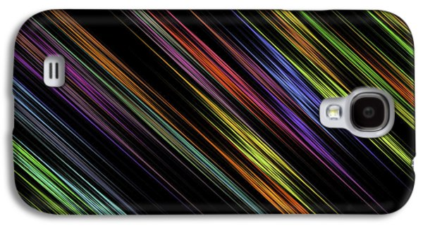 Abstract Digital Art Galaxy S4 Cases - Fractal Computer Art Abstract Multi Colored Stripes Digital Image Galaxy S4 Case by Keith Webber Jr