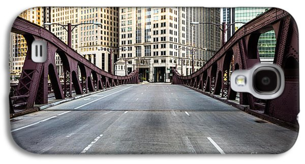 Downtown Franklin Galaxy S4 Cases - Franklin Orleans Street Bridge Chicago Loop Galaxy S4 Case by Paul Velgos