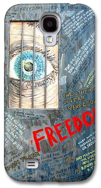 Founding Fathers Mixed Media Galaxy S4 Cases - Freedom Galaxy S4 Case by Ian  MacDonald