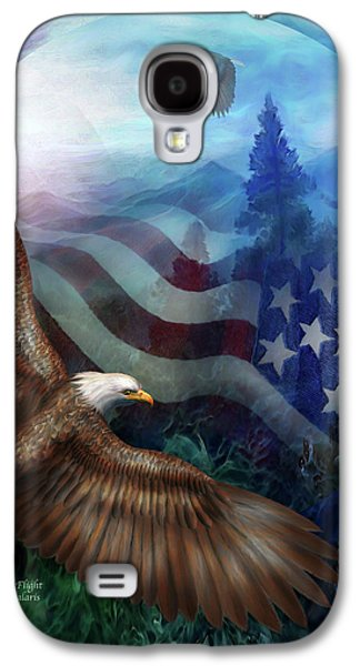 Eagle Mixed Media Galaxy S4 Cases - Freedoms Flight Galaxy S4 Case by Carol Cavalaris