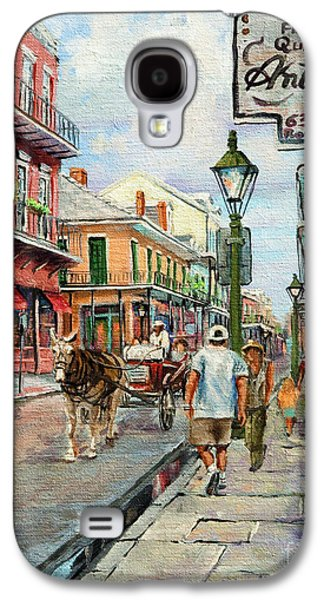 Park Scene Paintings Galaxy S4 Cases - French Quarter Antiques Galaxy S4 Case by Dianne Parks