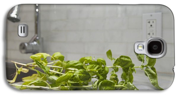Electrical Component Photographs Galaxy S4 Cases - Fresh Basil Herb Leaves From The Garden Galaxy S4 Case by Marlene Ford