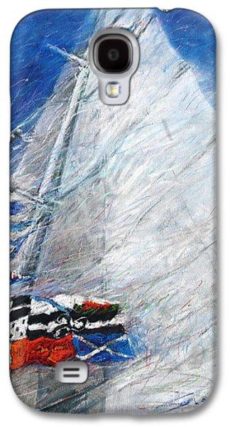 White Pastels Galaxy S4 Cases - Fresh Breeze Galaxy S4 Case by Yuriy  Shevchuk