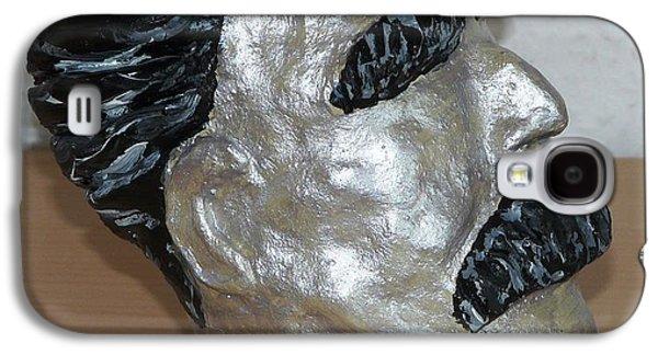 Bust Sculptures Galaxy S4 Cases - Friedrich Nietzsche Galaxy S4 Case by Valerie Ornstein