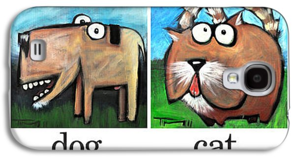 Dogs Digital Art Galaxy S4 Cases - Friendly Four Poster Galaxy S4 Case by Tim Nyberg