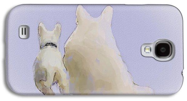Puppy Digital Art Galaxy S4 Cases - Friendship Galaxy S4 Case by Ron Jones