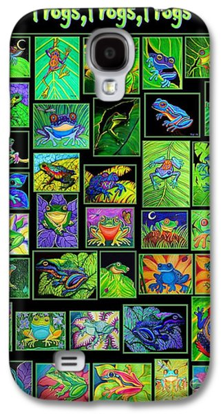Galaxy S4 Cases - Frogs Poster Galaxy S4 Case by Nick Gustafson