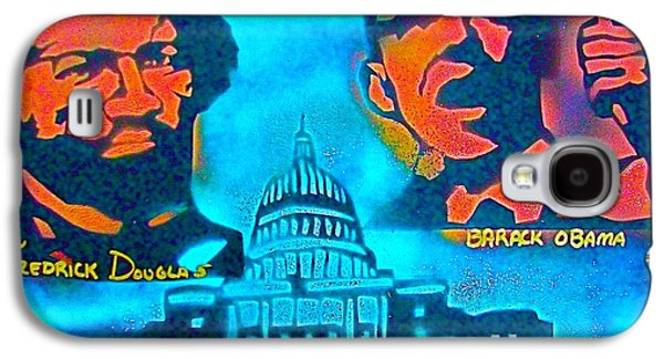 Barack Obama Galaxy S4 Cases - From Slavery to Freedom Galaxy S4 Case by Tony B Conscious