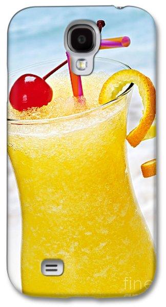 Juice Galaxy S4 Cases - Frozen tropical orange drink Galaxy S4 Case by Elena Elisseeva
