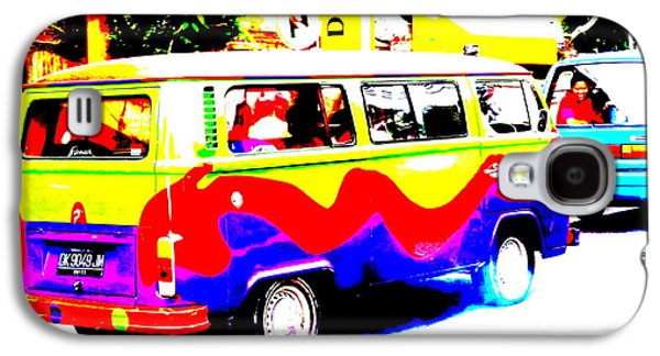 Funky Bali Bus  Galaxy S4 Case by Funkpix Photo Hunter
