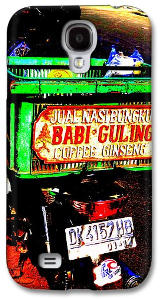 Abstract Digital Photographs Galaxy S4 Cases - Funky Balinese Motorbike Galaxy S4 Case by Funkpix Photo Hunter