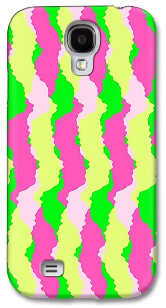 Louisa Galaxy S4 Cases - Funky Stripes Galaxy S4 Case by Louisa Knight
