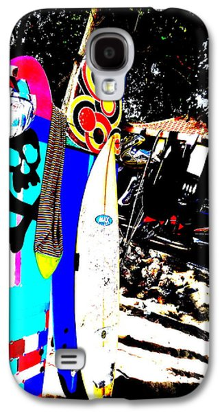 Abstract Digital Photographs Galaxy S4 Cases - Funky Surf Boards in Seminyak Galaxy S4 Case by Funkpix Photo Hunter