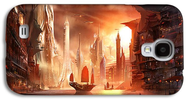 Concept Art Galaxy S4 Cases - Future Harbor Galaxy S4 Case by Alex Ruiz