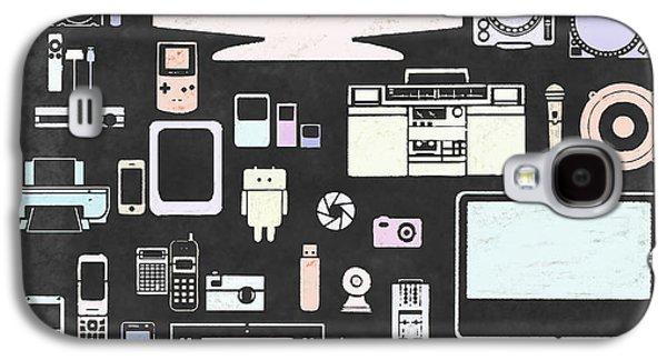 Multimedia Galaxy S4 Cases - Gadgets Icon Galaxy S4 Case by Setsiri Silapasuwanchai