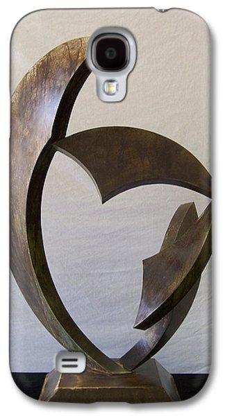 Abstract Movement Sculptures Galaxy S4 Cases - Gaea Galaxy S4 Case by John Neumann