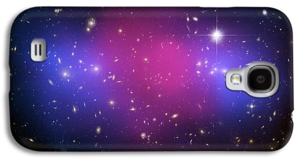 Intergalactic Space Galaxy S4 Cases - Galaxy Cluster Collision, X-ray Image Galaxy S4 Case by Nasaesacxcstscim. Bradac And S. Allen