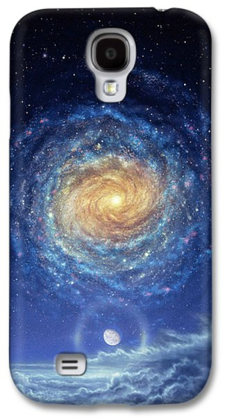Galaxies Galaxy S4 Cases - Galaxy Rising Galaxy S4 Case by Don Dixon