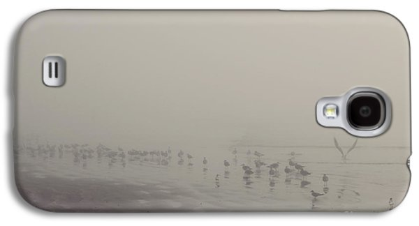 Photos Of Birds Galaxy S4 Cases - Galveston Island foggy morning Galaxy S4 Case by Svetlana Novikova